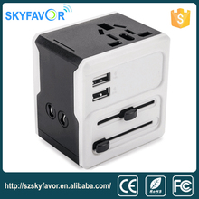 Universal 220v to 110v ac dc travel power plug adapter,electrical socket outle usb mobile travel charger adapter