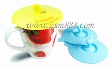 silicone food mug lid/silicone coffee cup cover