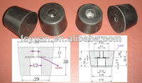 rubber feet with screw for machinery/molding rubber product for window/anti shock rubber feet