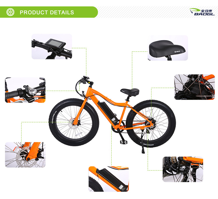2018 most popular retro design electric bike/fat tire mountain bike Samsung 14.4AH battery 500w electric bike