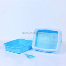 New Durable plastic Cat litter tray/cat litter pan / cat toliet with sieve