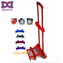Metal Luggage Trolley handle parts with wheels for luggage bag