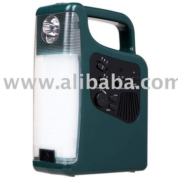 Solar Camping Lantern Light with Pest Dispeller+ FM Radio