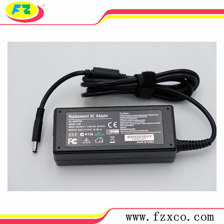 Laptop power charger adapter for dell 19.5V 2.31A 65W