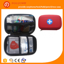 customize mini red pu leather eva first aid kit, first aid box