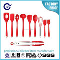 Hot sale silicone kitchen Utensils cooking tools with stainless steel handle
