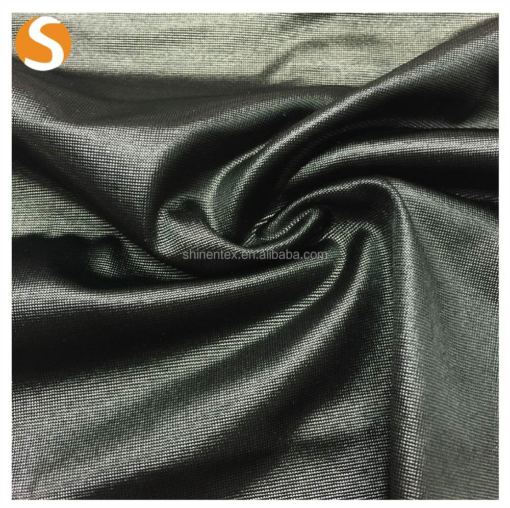 Cheap price knitted shiny single core jersey 95% polyester 5% spandex fabric