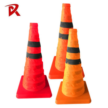flexible pvc and pe red safety traffic cone