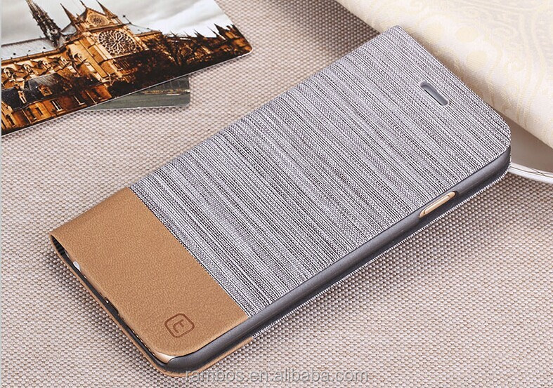 Custom Denim Leather Wallet Phone Cover Stand Flip Case for iPod Touch 2 3 4 5 for iPhone 5 5S