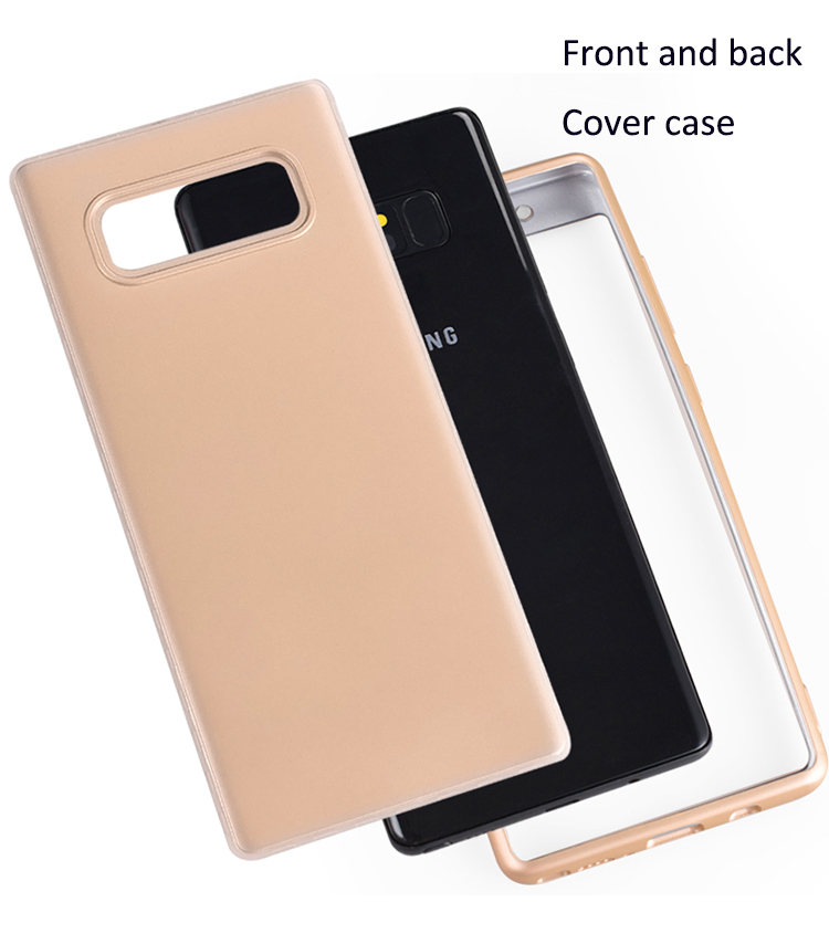 DFIFAN Front and back moblie cover case for samsung galaxy note8, full protective phone case for samsung note 8