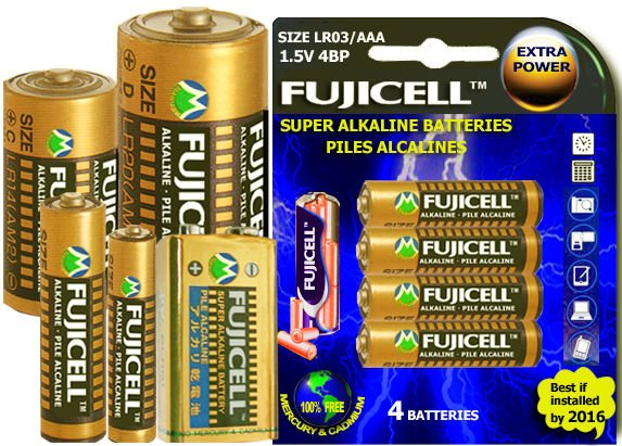 Super Alkaline Batteries Manufactured Under 100% Formula of Japan