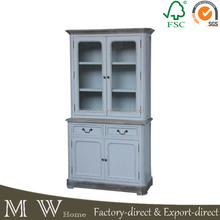 glass door livingroom furniture, cabinet with 2doors 2 drawers, antique glass door cabinet