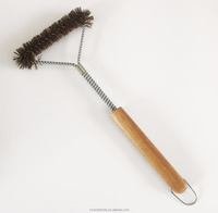 high quaility wooden handle wire brush /BBQ cleaning brush