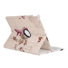 Best Selling Fashionable Map Designed Pattern 360 degree Rotating Tablet Leather Flip Cover Case for Huawei Honor