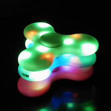 New Arrival LED Hand Spinner Portable Bluetooth Wireless Speaker For Autism Kids Adult fidget spinner toy