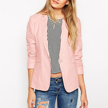 Business suits lady formal fashion new pink blazer woman