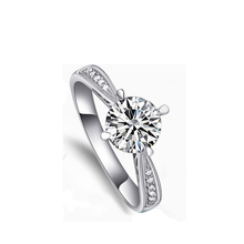 YWMT 2018 New Design Romantic S925 <strong>Silver</strong> 1 Carat Wedding Diamond Ring For Women