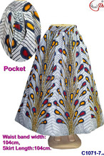 C1071-7 Top fashion african women dress unique designs soft lady skirt for party