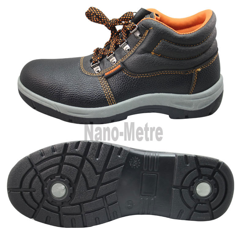 NMSAFETY low price artificial leather steel toe cap safety footwear work shoes