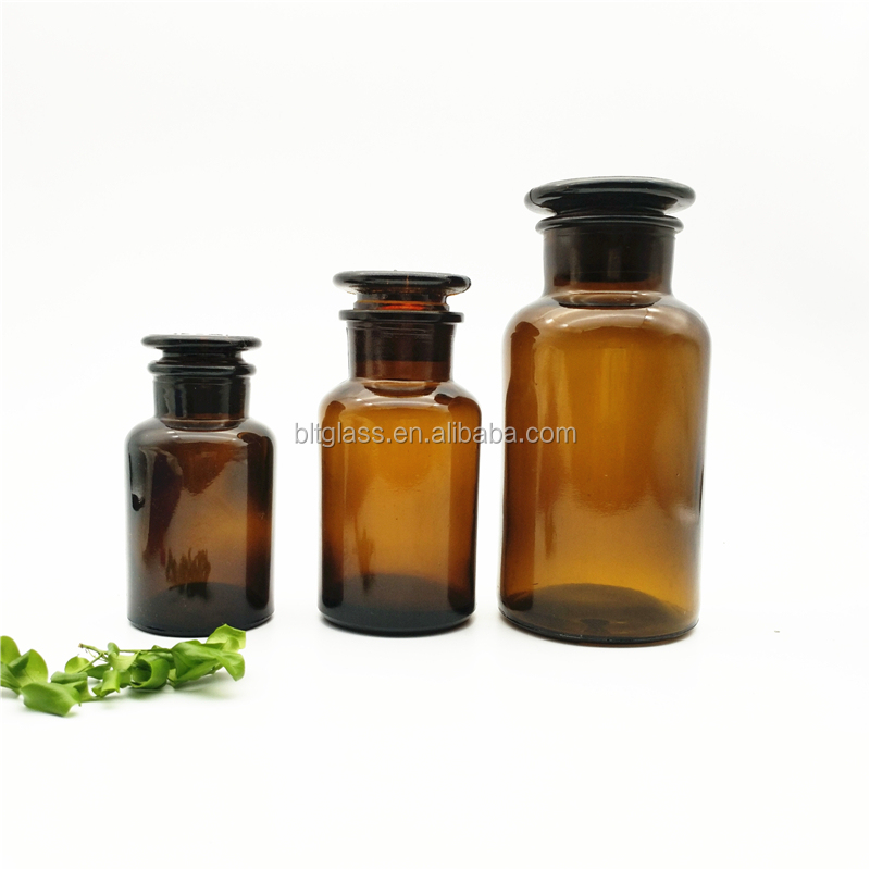 Amber Glass Candle Jars 250ml 500ml Aroma Glass Reagent Bottles