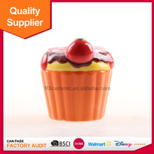 China supplier fruit design cherry ceramic candle holder