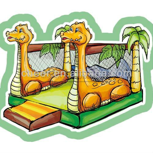 Cheer Amusement children indoor playground European inflatable dinosaur bouncer