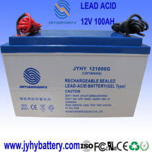12V 100AH deep cycle solar gel battery with cable