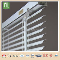 S Shape 25mm width clear folding pvc blinds curtain