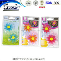 New design dry flower shape car vent clip air freshener with scent