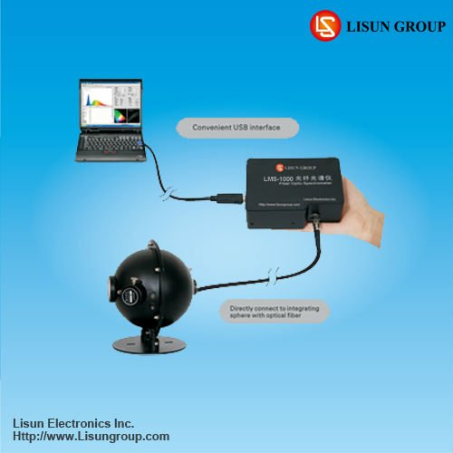 LMS-7000VIS portable spectrophotometer to testing LED lighting products and plastic industry