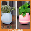 LED plastic decorative music flowerpot with bluetooth