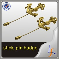 High-end Small And Exquisite Plated Gold Stick Pin Badge