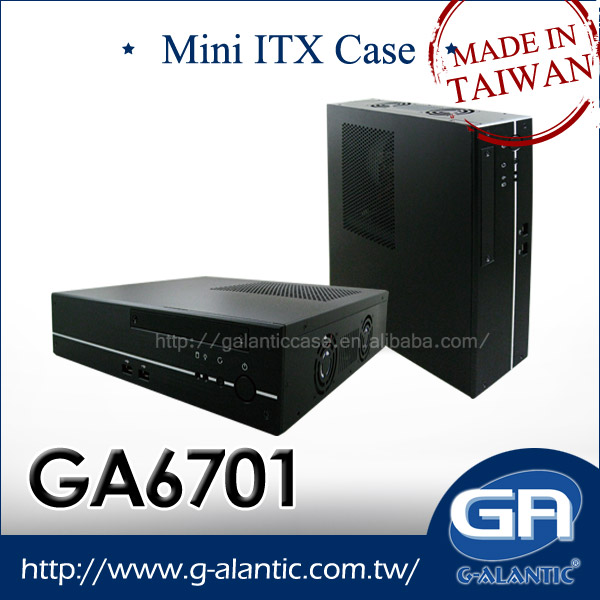 GA6701 - Chassis mini itx ventilated computer case gaming with 2 PCI-E slot and Power supply