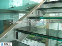Clear Laminated Glass Stair Treads