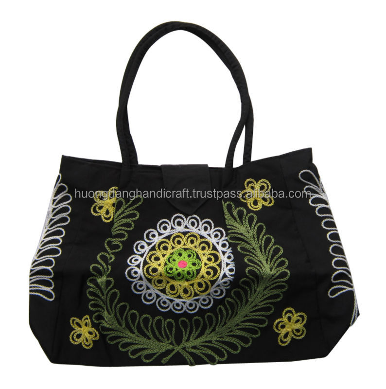 Brocade bag made from ethnic cloth, traditional vietnamese bag, 100% handmade