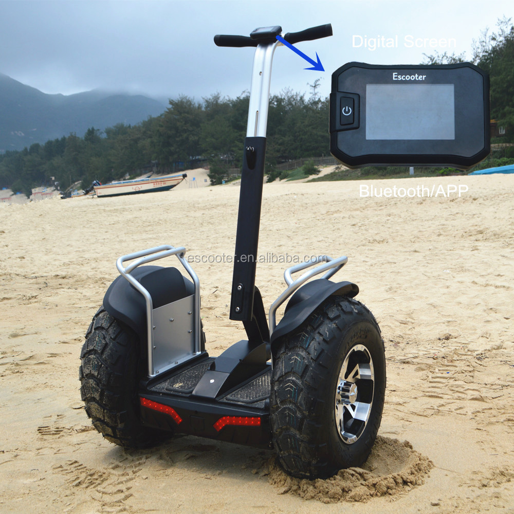 EcoRider Electric Chariot Scooter E8 x2, 2 Wheel Self Balancing Electric Scooter Price with Double Battery