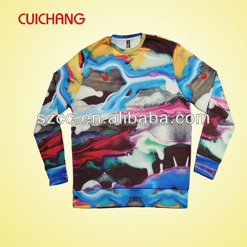 Custom sublimation polyester sweatshirts