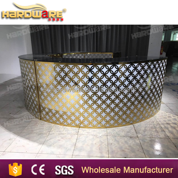 round mirror glass top stand up bar tables