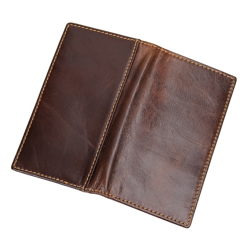 R-8119Q JMD High Quality Real Cow Leather Coffee RFID Blocking Wallet For Protect Credit Card, Card Case
