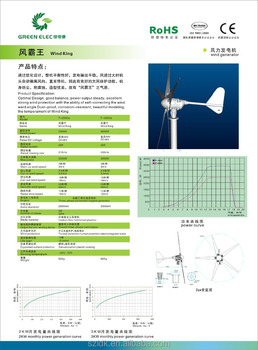 rare earth PMG Tip stall Mechanical mode protection generator 3000w wind turbine