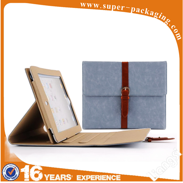 Promotion fashion high quality folding portable protective leather shockproof case for tablet