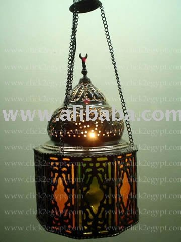 Handmade Islamic Hanging Lamp / Lantern Candle Holder