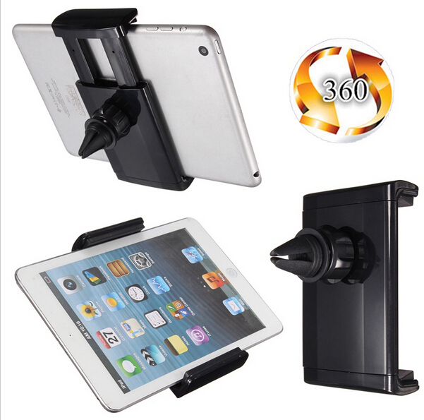 8.5-14cm Adjustable Rptating Universal Car Air Vent Tablet Mount Holder For Tablet PC 7 Inch ipad mini/Tab Series