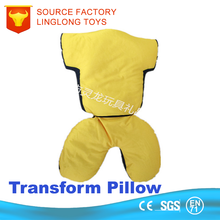 Bed Chair Headrest Covers Elastic Fabric Aviation Tour Cushion Covers Custom Jersey Transformers U Shape Car Neck Pillow
