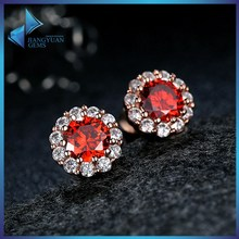 cheap jewelry red bridal earrings with stone
