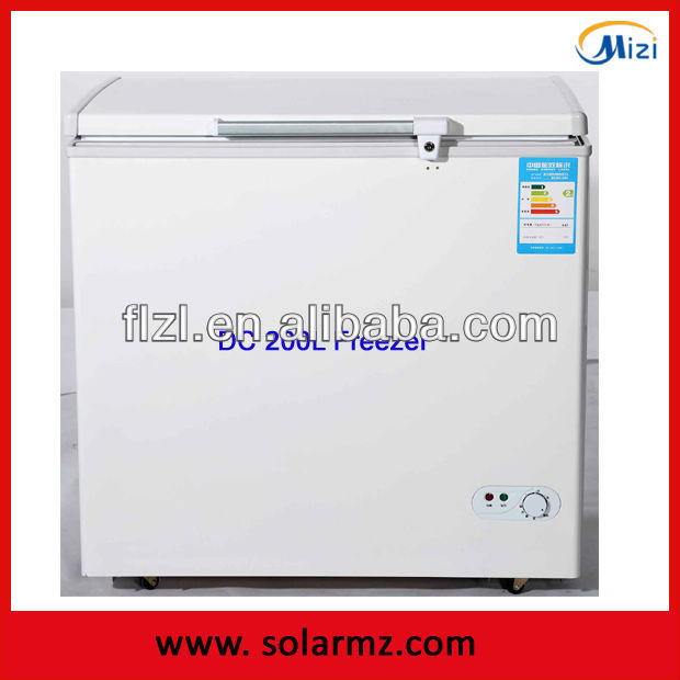 Manufacturer supply solar powered energy deep Battery powered freezer solar 12V dc12/24V DC deep freezer 200L with DC compressor
