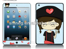 Shining color cartoon screen protector for ipad mini with design( cartoon ) oem/odm