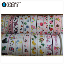 High Quality Crazy Selling 100% Polyester Grosgrain Printed Horse Ribbon