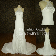 Floor-Length Hemline and Organza Fabric Type muslim wedding dress