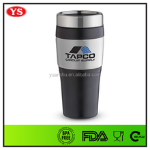 Promotional 400 ml double wall plastic thermal cup with lid
